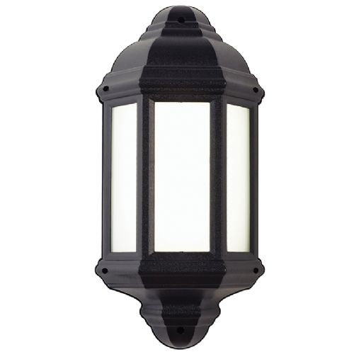 7W LED POLYCARB HALF LANTERN WALL LIGHT BXEL-40116-17 (Class 2 Double Insulated)